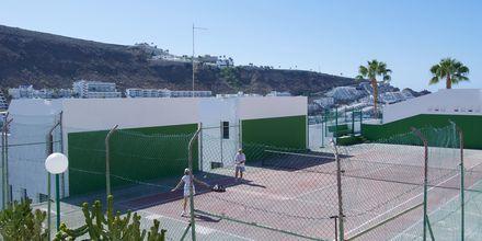 Tennistä, Hotelli Heliomar, Puerto Rico, Gran Canaria.