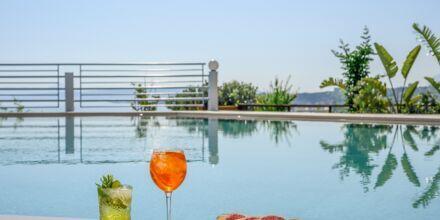 Nauti hyvästä juomasta altaalla, Hotelli Hermes, Kato Stalos, Kreeta.