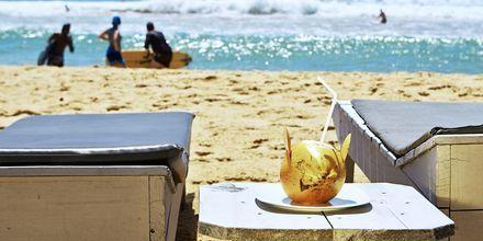 Rentoa lomailua rannalla. Hikkaduwa, Sri Lanka.