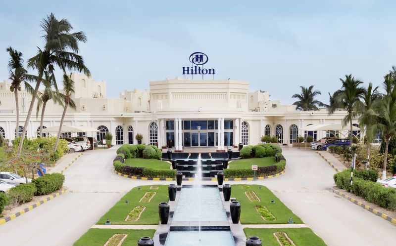 Hotelli Hilton Salalah Resort. Oman.