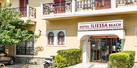 Sisäänkäynti. Hotelli Iliessa Beach, Argassi, Zakynthos, Kreikka.