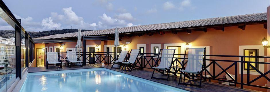 Allas, Hotelli Ionia Suites, Rethymnon, Kreeta.
