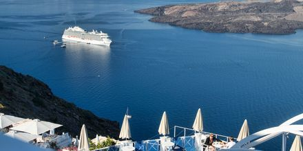 Maisema, Hotelli Kafieris Blue, Santorini, Kreikka.