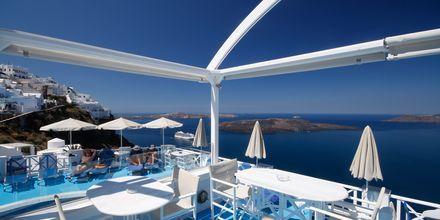 Ravintola, Hotelli Kafieris Blue, Santorini, Kreikka.