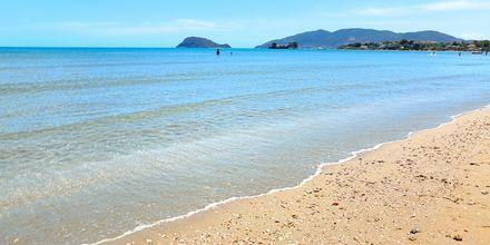 Kalamakin ja Laganasin välinen ranta. Zakynthos, Kreikka.