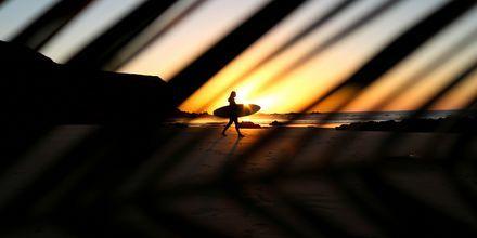 Auringonlasku Fuerteventuralla.