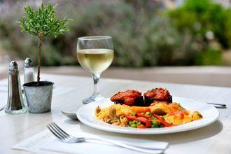 Ravintola, Hotelli Kipriotis Maris, Kos, Kreikka.