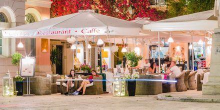 Ravintola, Korfin kaupunki, Kreikka.