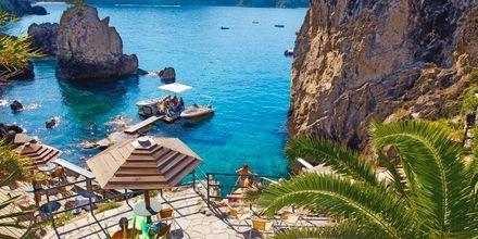 Paleokasritsa, Korfu, Kreikka.