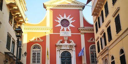 Panagia Spilitiossan kirkko, Korfun kaupunki, Kreikka.