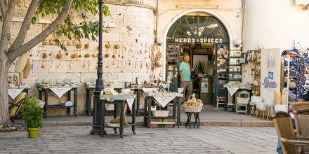 Vanha osa Kosin kaupungissa on viehättävä paikka syödä lounasta tai illallista.