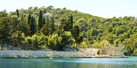 Saaren länsipuolella on suuri luonnonpuisto.