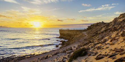 Auringonlasku, Hotelli La Pared – powered by Playitas, Fuerteventura.