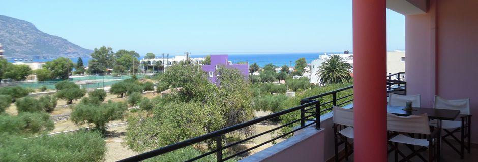 Maisema hotellista, Ladis, Karpathos.