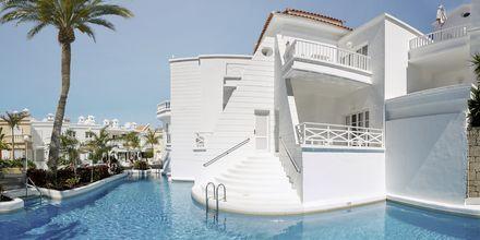 Kaksio jaetulla altaalla. Hotelli Lagos de Fañabe, Playa de las Americas, Teneriffa.