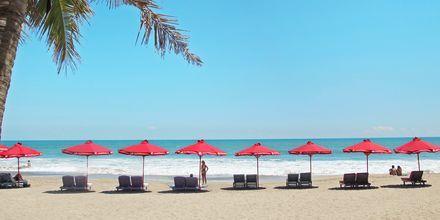 Ranta, hotelli Legian Beach. Kuta, Bali.