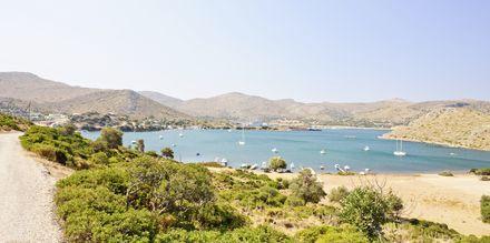Leroksella on useita uimarantoja. Leros, Kreikka.