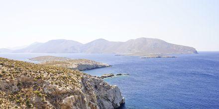 Kivikkoa Leroksen pohjoisosassa. Leros, Kreikka.