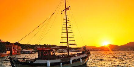 Upea auringonlasku. Leros, Kreikka.