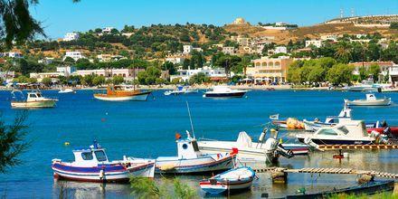 Saarelta löytyy useita pittoreskeja satamia. Leros, Kreikka.