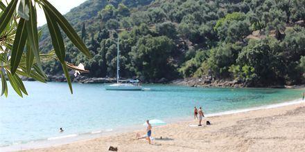Ranta, hotelli Lichnos Bay Village. Parga, Kreikka.