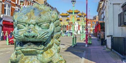 Chinatown, Liverpool, Englanti.