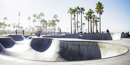 Skeittipuisto Venice Beachillä, Los Angeles.