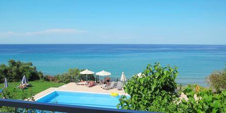 Näkymä parvekkeelta. Loukas on the Waves, Tragaki, Zakynthos, Kreikka.