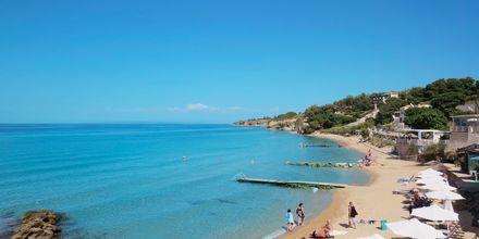 Läheinen ranta. Loukas on the Waves, Tragaki, Zakynthos, Kreikka.