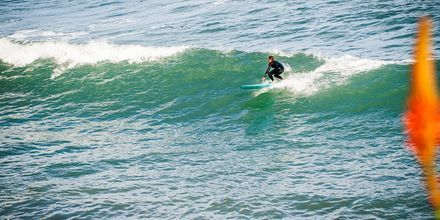 Surffausta Madeiralla.