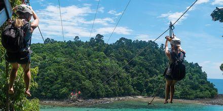 Malesiassa voit kokeilla useita aktiviteetteja, kuten ziplinea.