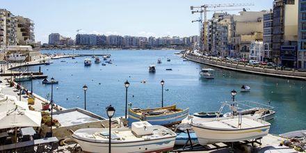 Maltan Sliema -niminen kaupunki tarjoaa ostosmahdollisuuksia, rentoa tunnelmaa ja hyviä ravintoloita.