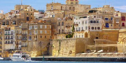 Satama Maltan pääkaupunki Vallettassa.