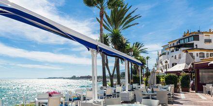Ulkoilmaravintola Puerto Banúsissa, Marbellassa.