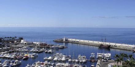 Näkymä satamaan. Hotelli Marina Bay View, Puerto Rico, Gran Canaria.