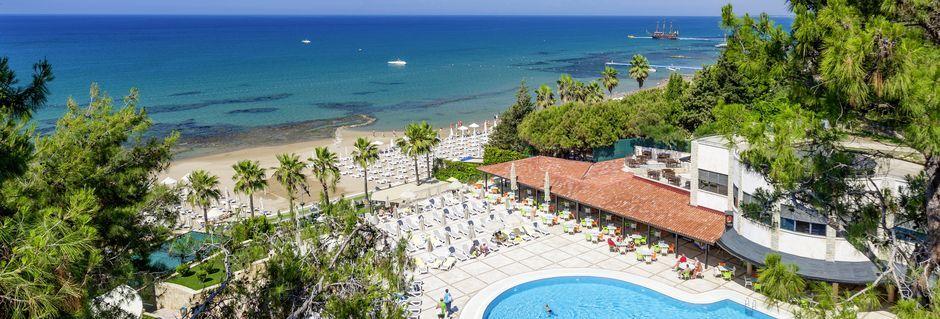Allasalue. Hotelli Melas Holiday Village, Side, Turkki.