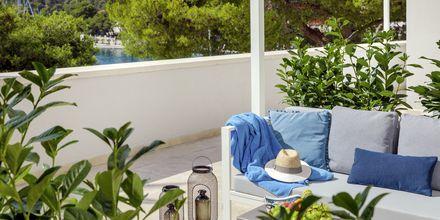 Sviitti, Hotelli Milna Osam, Brac, Kroatia.