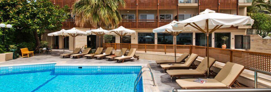 Uima-allas, Hotelli Minos, Rethymnon, Kreta