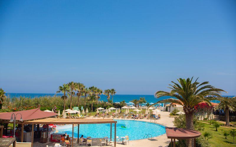 Allasalue, Hotelli Minos Mare, Rethymnon, Kreeta.