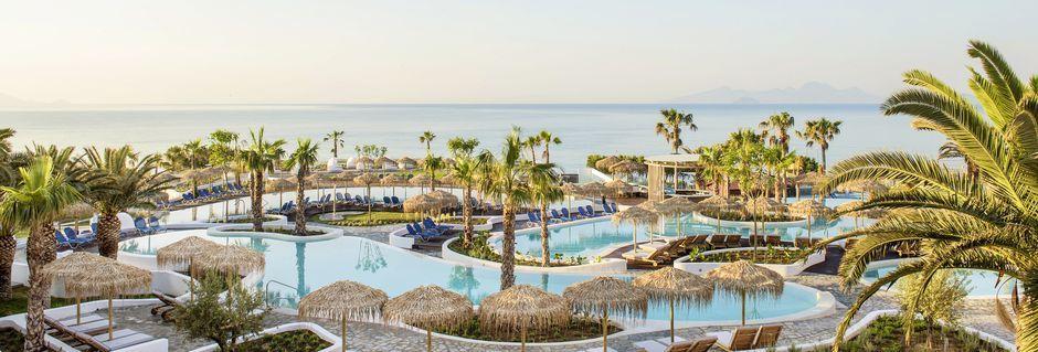 Allasalue. Hotelli Mitsis Norida Beach Hotel, Kos, Kreikka.