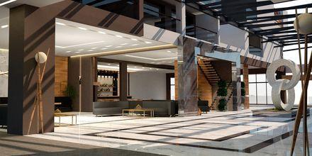 Havainnekuva vastaanotosta. Hotelli Myrion Beach Resort, Gerani, Kreeta, Kreikka.