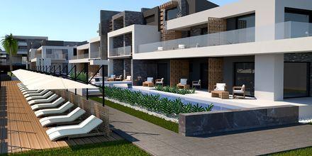 Havainnekuva jaetusta altaasta. Hotelli Myrion Beach Resort, Gerani, Kreeta, Kreikka.