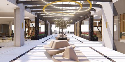Havainnekuva aulasta. Hotelli Myrion Beach Resort, Gerani, Kreeta, Kreikka.