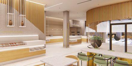 Havainnekuva ravintolasta. Hotelli Myrion Beach Resort, Gerani, Kreeta, Kreikka.