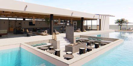 Havainnekuva allasbaarista. Hotelli Myrion Beach Resort, Gerani, Kreeta, Kreikka.