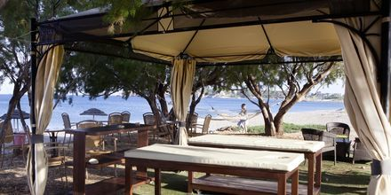 Hierontaa rannalla. Hotelli Mythos Beach Resort, Afandou, Rodos.