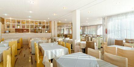 Ravintola. Hotelli Livadi Nafsika, Dassia, Korfu, Kreikka.