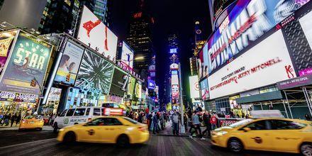 Keltaiset taksit ovat New Yorkin tavaramerkki.