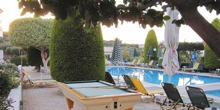 Biljardipöytä, hotelli Nikolas Villas. Hersonissos, Kreeta.