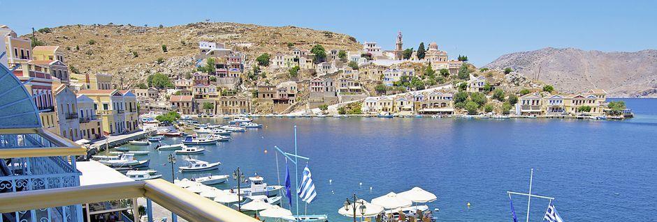 Näkymä, hotelli Nireus. Symi, Kreikka.